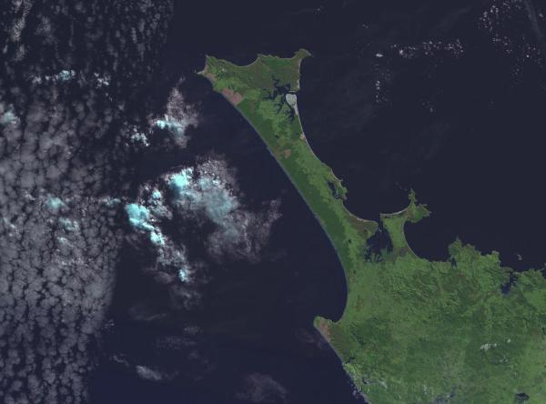 northland aupori peninsula from space image