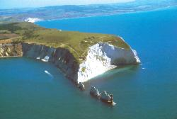 the needles isle of wight image from the air